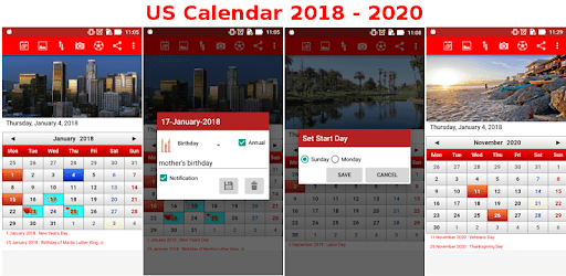Apps Like US Calendar 2018 - 2019 For Android - MoreAppsLike
