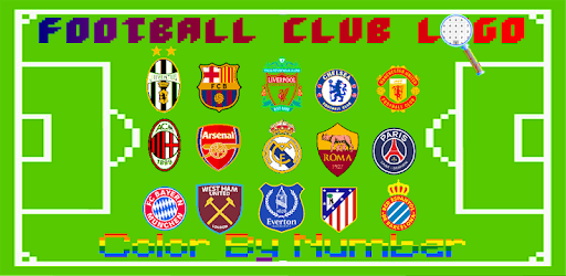 Apps Like Football Logo Coloring Color By Number Pixel Art
