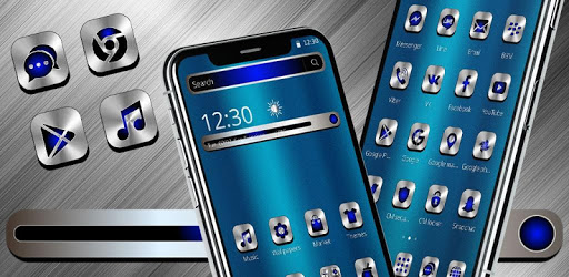 Apps Like Blue Silver Metal Launcher Theme For Android - MoreAppsLike